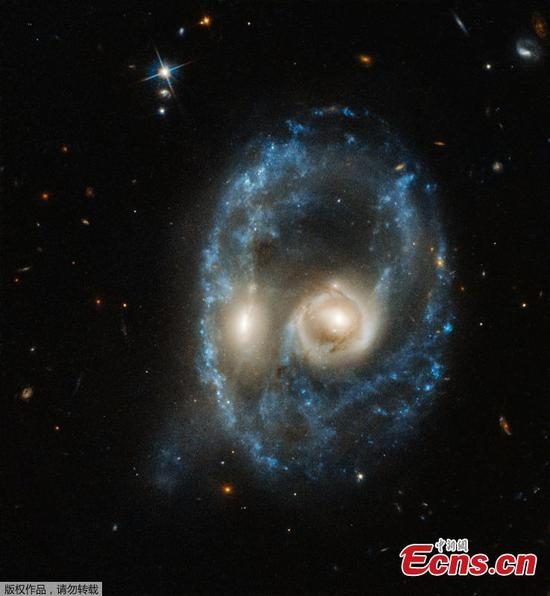 Hubble spots stunning ring galaxy system