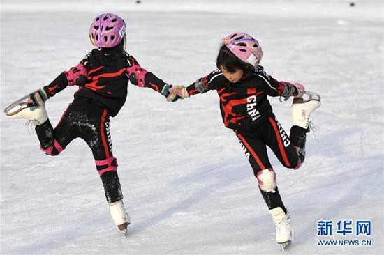 Hebei to build skating venues to promote winter sports