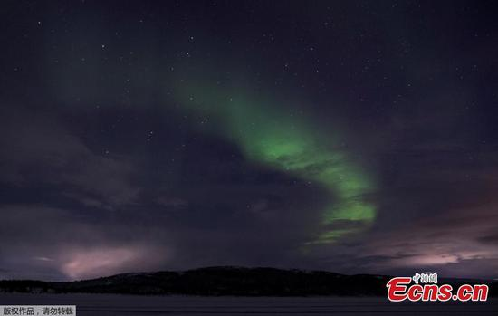 Dazzling northern lights display illuminates skies