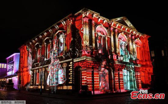 Amazing light show projected onto Customs House in South Shields