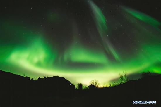 Amazing aurora borealis in northern Norway