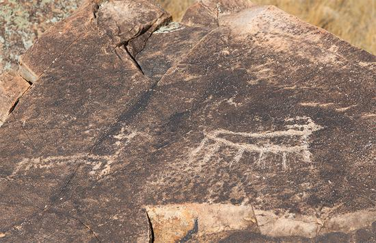 Rock painting records vanishing civilization