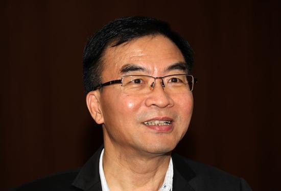 Chan Cheuk-hay, principal of Hong Kong College of Technology, talks with Xinhua in an interview on Oct. 28, 2019. (Xinhua/Wu Xiaochu)
