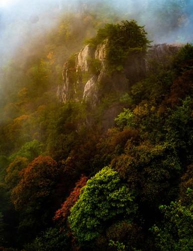 Autumn falls at Taoism retreat on Laojun Mountain