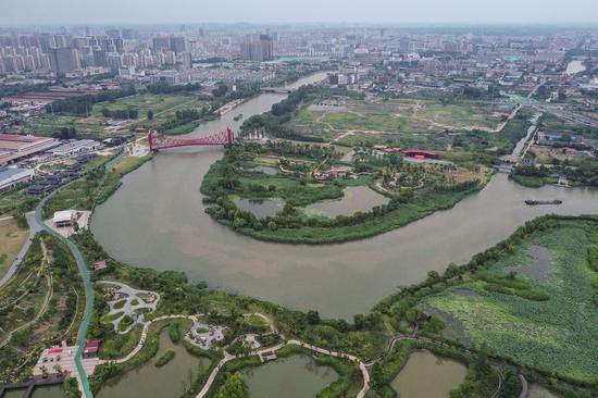 Scene of Yangzhou, a city in China's Jiangsu Province. (Photo by Ji Chunpeng/Xinhua)