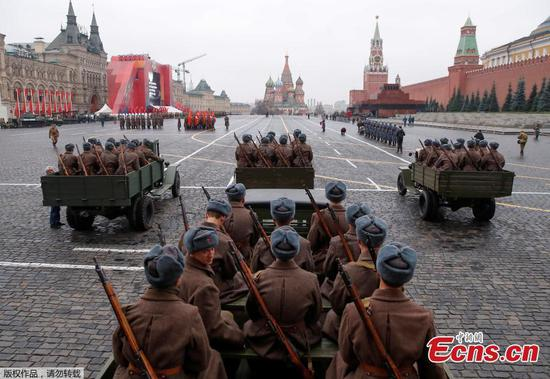 Rehearsal for 78th anniversary of legendary military parade held in Moscow