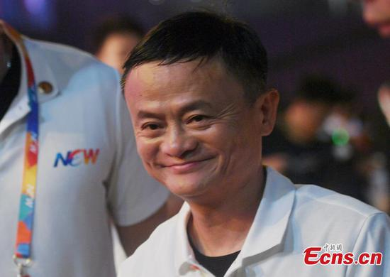 Jack Ma becomes emotional while leaving Alibaba's 20th anniversary gala in Hangzhou City, Zhejiang Province, Sept. 10, 2019.   (Photo: China News Service/Wang Gang)