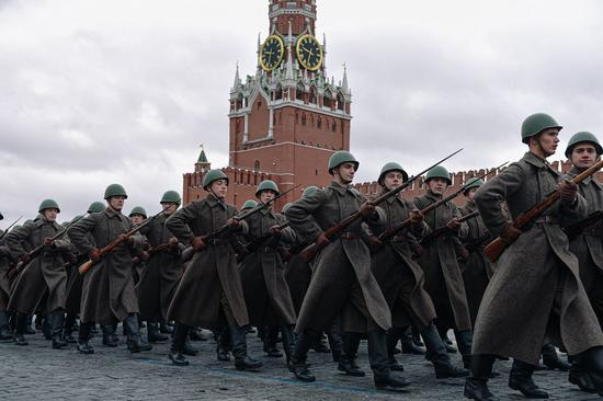 Celebrations held at Moscow Red Square to mark historic 1941 military parade