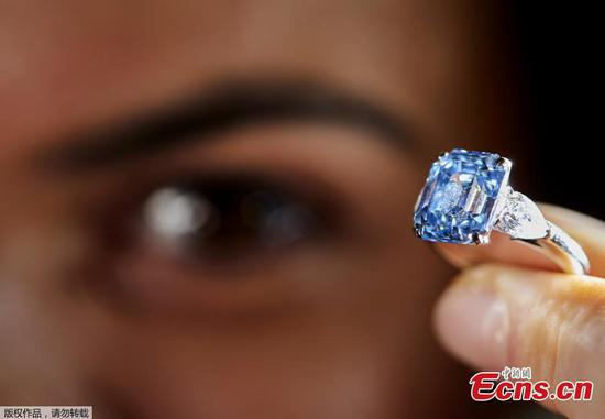 Rare blue diamond ring to be auctioned