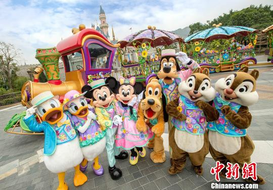 A glimpse of Hong Kong Disneyland. (File photo/China News Service)