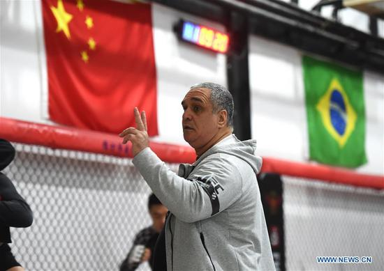 Living of 54-year-old Brazilian Jiu-Jitsu coach from Rio de Janeiro in China
