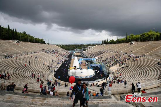 Athens Marathon ends at historical Greek stadium