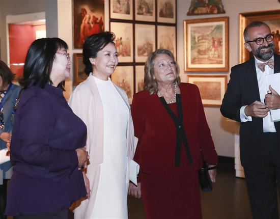 China's first lady Peng Liyuan visits Benaki Museum in Athens