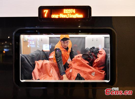 Fast trains help transport parcels of Singles' Day shopping