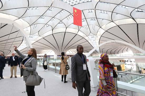 Ambassadors tour new Beijing Daxing Airport