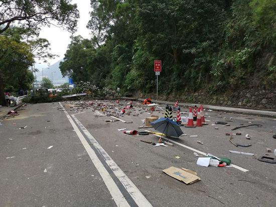 Carriageway near university partly reopened: Hong Kong police