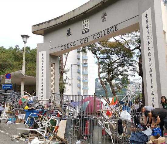 Violence in Hong Kong universities takes 'another step towards terrorism': police