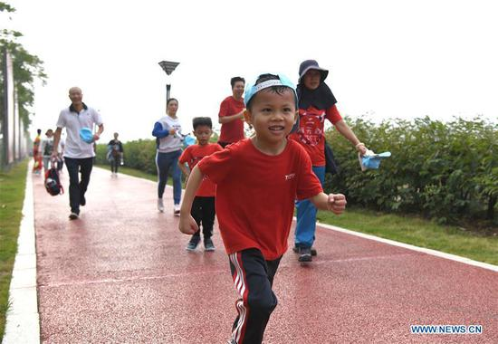 Parent-child mini marathon held by kindergarten in Nanning