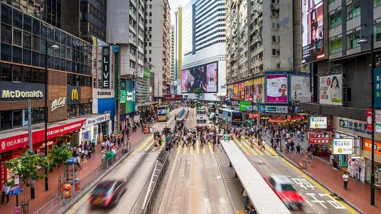 Hong Kong plunges into first recession in a decade