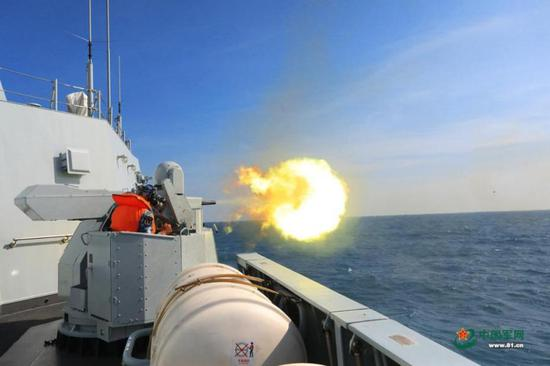 PLA Navy drill in East China Sea