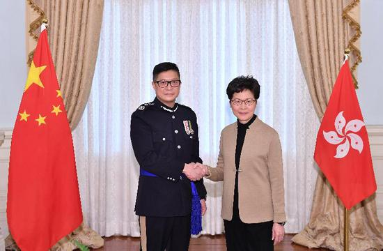 New Hong Kong police commissioner calls for continued public support to restore order