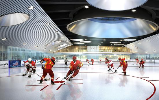 New ice rink warms up 2022 Games preparations