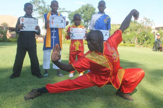 Chinese kung fu teaches way of life to Botswana children