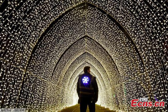 In pics: Dazzling light festival in London