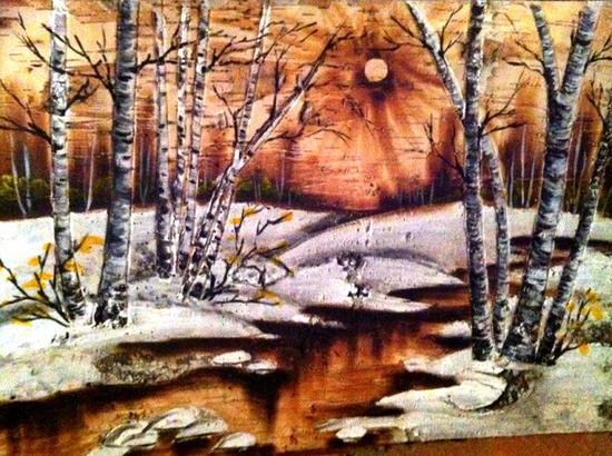 古老的白桦树皮工艺在导师的带领下得到复兴
