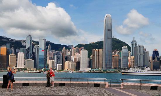 Photo shows Victoria Harbour in Hong Kong, China. (Xinhua)