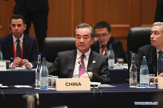 Chinese State Councilor and Foreign Minister Wang Yi attends the Group of 20 (G20) Foreign Ministers' Meeting in Nagoya, Japan, Nov. 23, 2019. (Xinhua/Hua Yi)