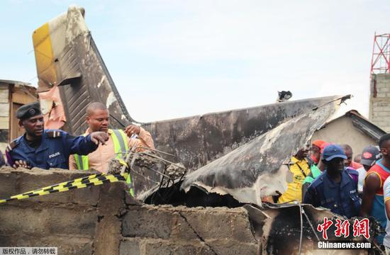 Plane crashes into homes in east DR Congo