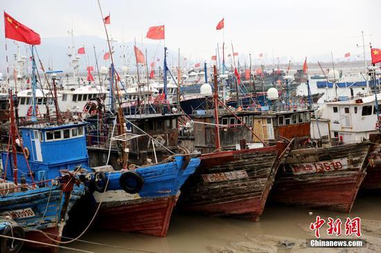 Fishing boats return ahead of bad weather