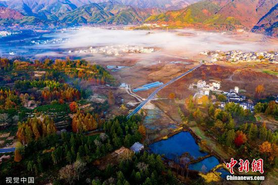 Picturesque mountain village in Anhui