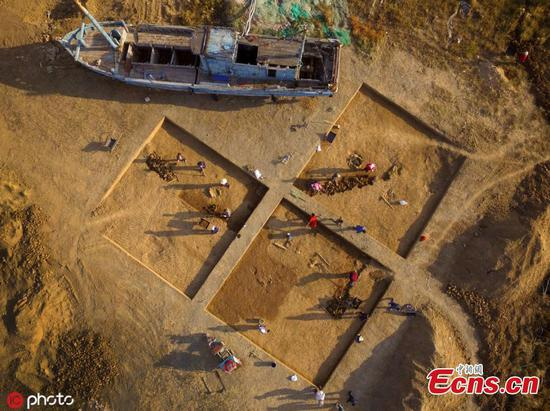 2,000-year-old drainage system found at Langyatai ruins