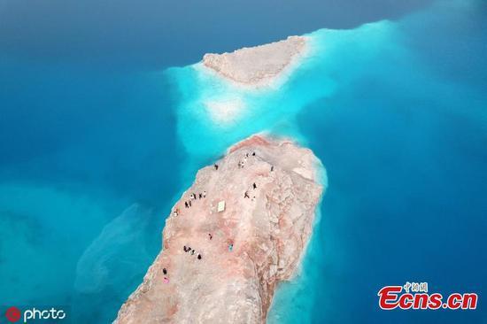 Abandoned quarry becomes hot online tourist spot