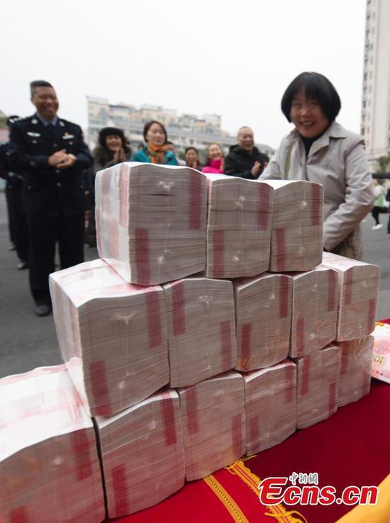 Jiangxi police retrieve money from telecom fraud cases