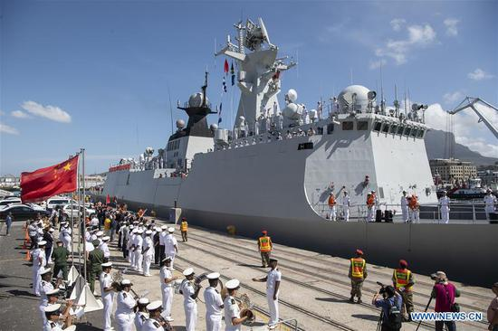 S. African navy hosts Russia, China for maritime exercise