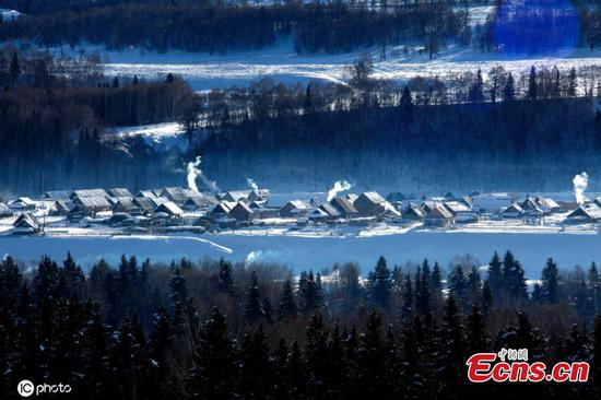 Kanas attracts visitors in winter with snow scenery in NW China's Xinjiang