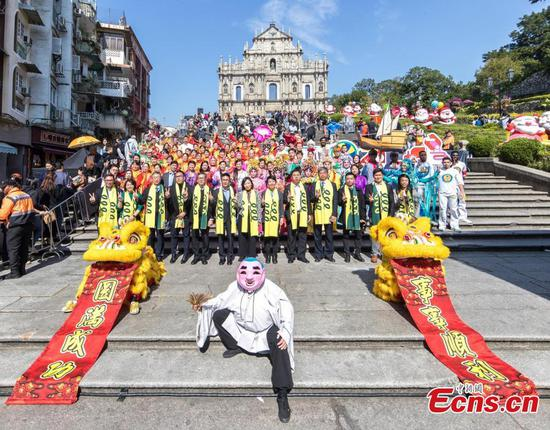 Worship ceremony held for international parade in Macao