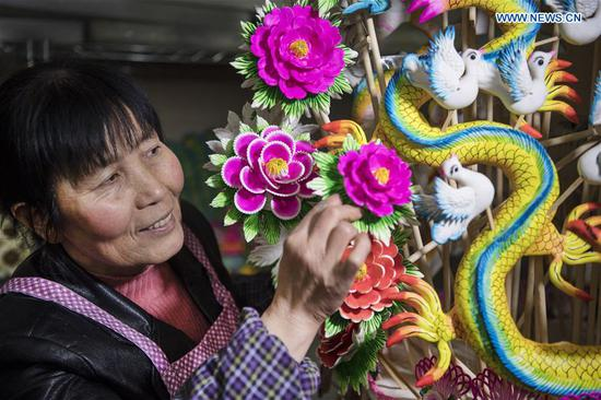 Handicraft master of dough modelling in China's Shaanxi