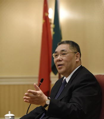 File photo: Chui Sai-on, Chief Executive of the Macao Special Administrative Region. (Photo/Xinhua)