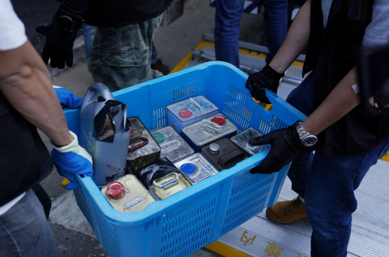 Hong Kong police seize 59 bottles of dangerous chemicals stolen by rioters from university laboratories
