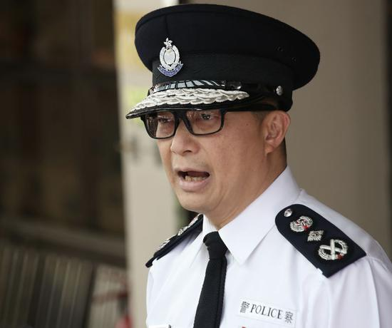 Commissioner of Police of the Hong Kong Special Administrative Region Tang Ping-keung speaks at a media briefing on Nov. 22, 2019 in south China's Hong Kong. (Xinhua)