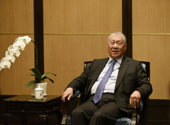 Ho Hau Wah, vice chairman of the National Committee of the Chinese People's Political Consultative Conference (CPPCC), gives an interview to Xinhua on Nov. 20, 2019. (Xinhua/Xu Liang)
