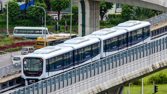 Macao LRT during tests. (Photo Macao government)
