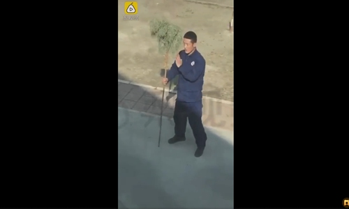 Firefighter's kung fu goes viral