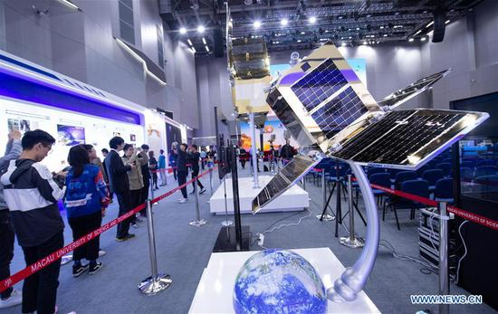 Aerospace exhibition marking 20th anniv. of Macao's return to motherland kicks off