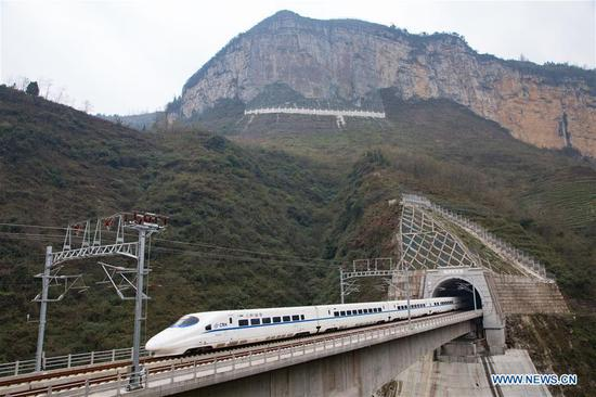 Chengdu-Guiyang railway in operation
