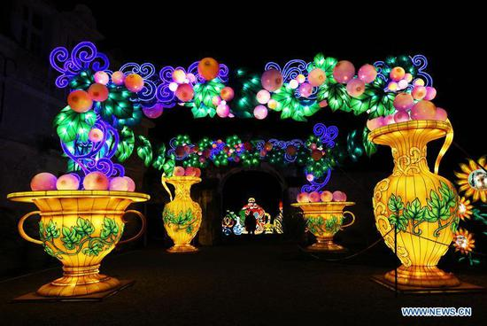 Chinese Lantern Festival held in Castle of Selles sur Cher, France